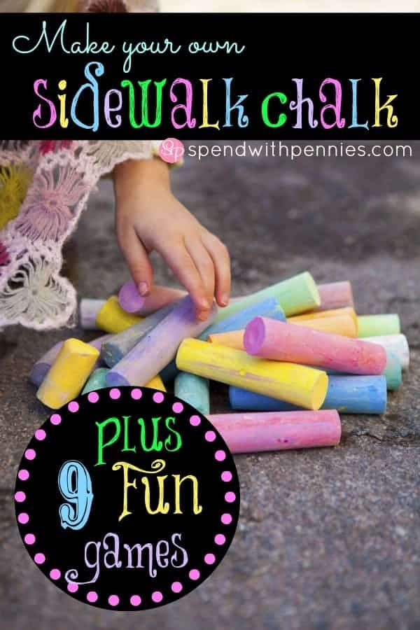 Make Your Own Sidewalk Chalk from Spend With Pennies 6