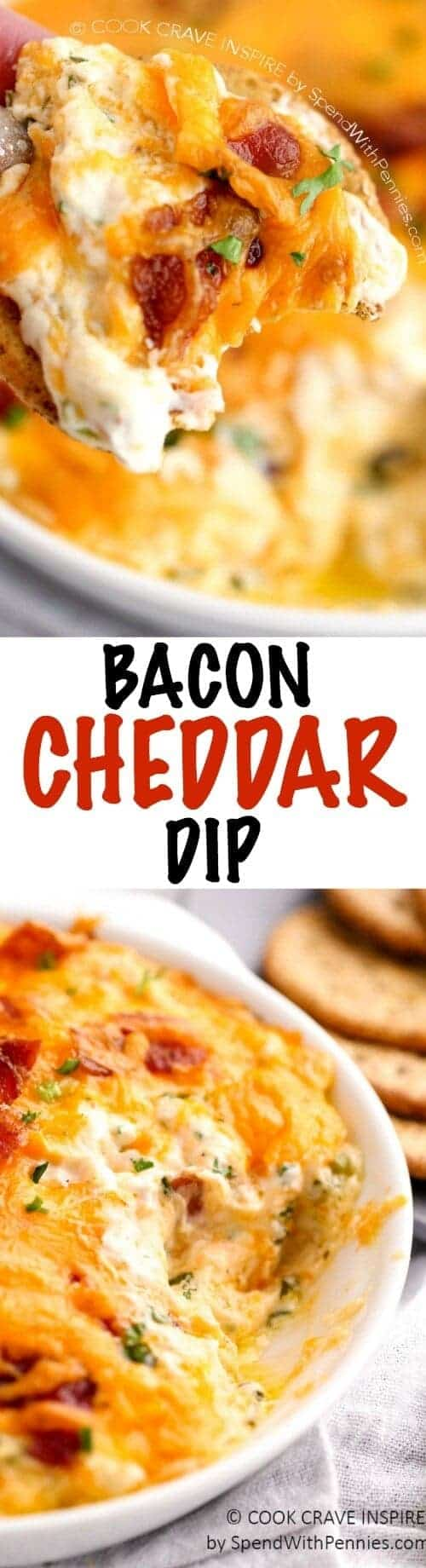 HOT BACON CHEDDAR DIP SPEND WITH PENNIES