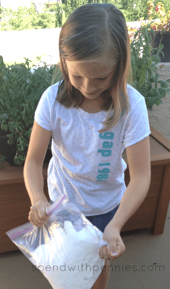 girl making homemade ice-cream