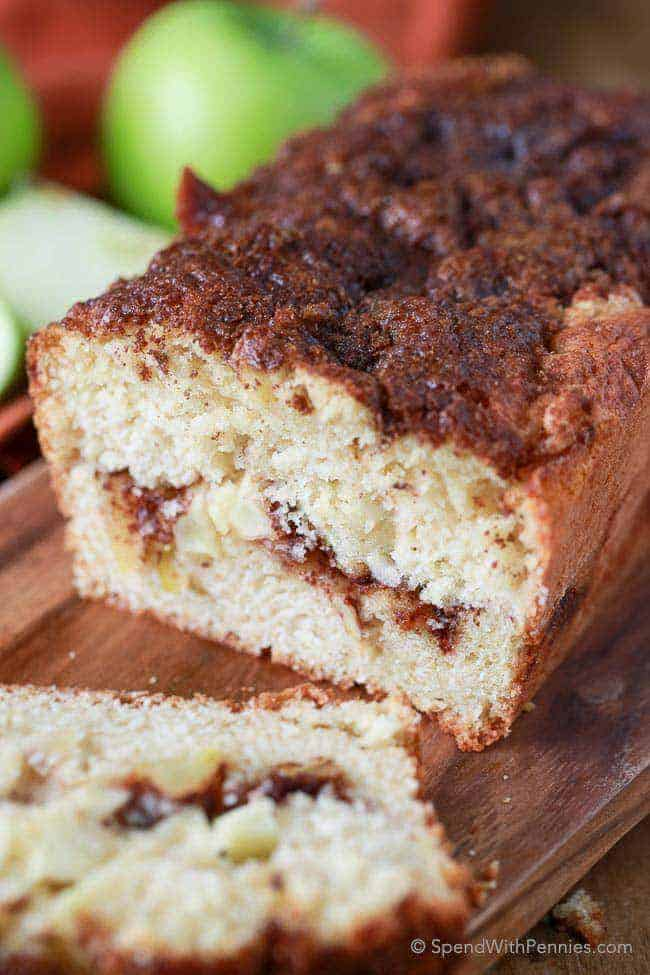 Warm Apple Pie Bread - Spend With Pennies
