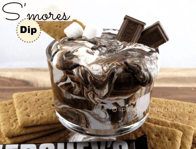 Delicious and creamy S'mores Dip!  This stuff is amazingly addictive.  Perfect for dipping fruit or graham crackers!!