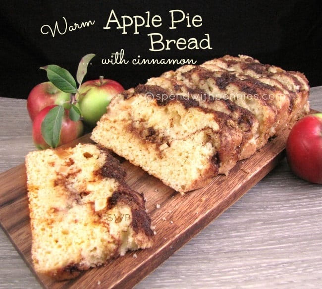 warm apple pie bread with cinnamon