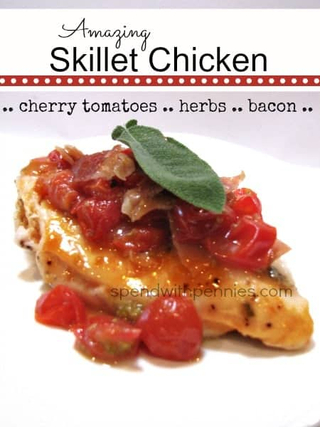 amazing skillet chicken