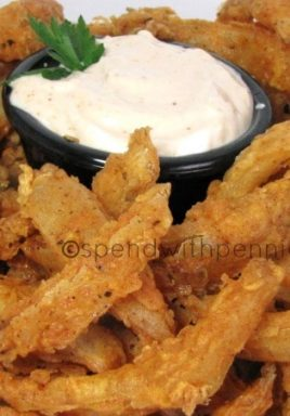 This is such a fun dish to serve up as an appetizer because guests always love it! Who doesn't love a Blooming Onion?!