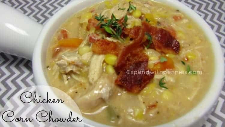 Chicken Corn Chowder with Bacon! - Spend With Pennies
