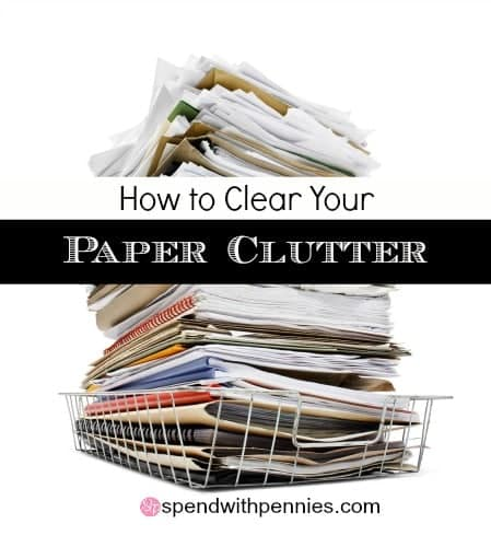 clear your paper clutter