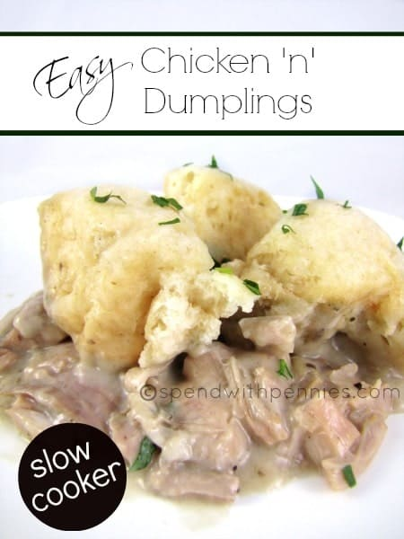 Easy Chicken and Dumplings in the Slow Cooker!