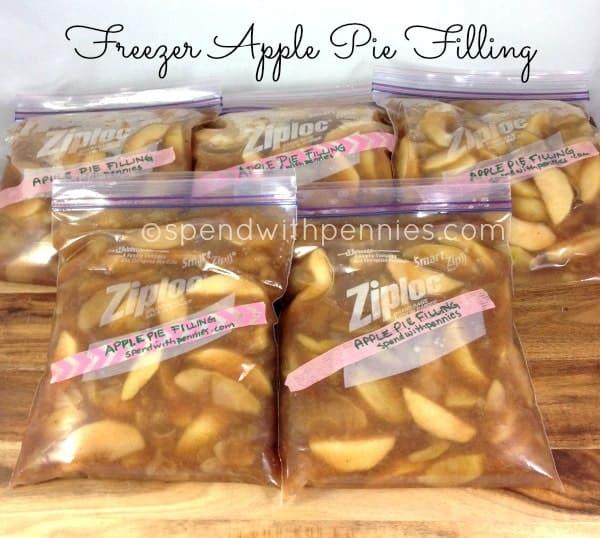 Freezer Pie: Freezer Apple Pie Filling! (4-5 Pies)