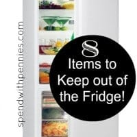 keep out of the fridge
