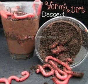 worms & dirt in cups