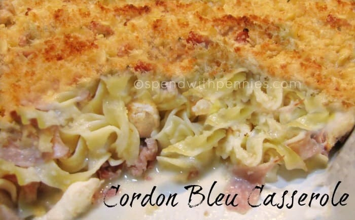 Cordon Bleu Casserole! This delicious casserole is made without using ...