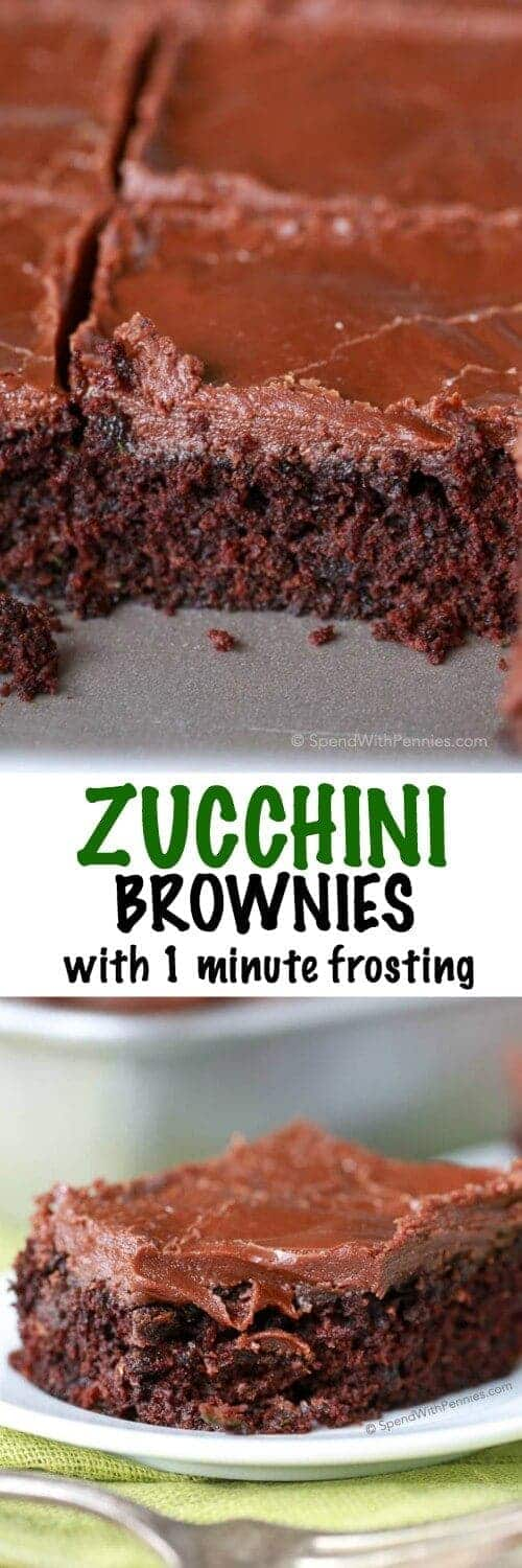 Zucchini Brownies with a title