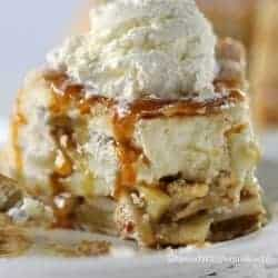 Upside Down Cheesecake Apple Pie.