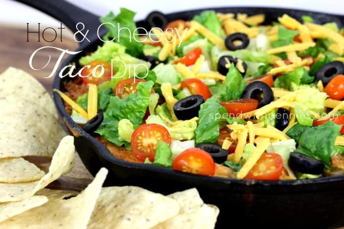 hot and cheesy taco dip 1