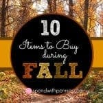 items to buy during fall