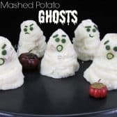 5 potato ghosts with green onion faces