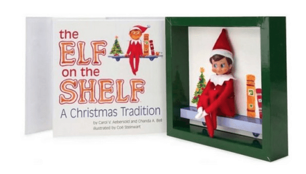 elf on the shelf in the book