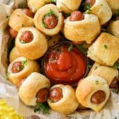 Pigs in a Blanket with dips