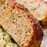 turkey meatloaf up close