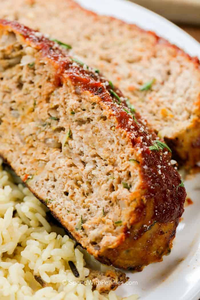 Moist turkey meatloaf from my favorite turkey meatloaf recipe