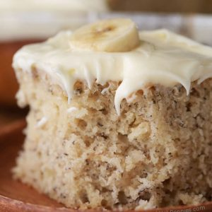 Recipes banana cake cream cheese frosting