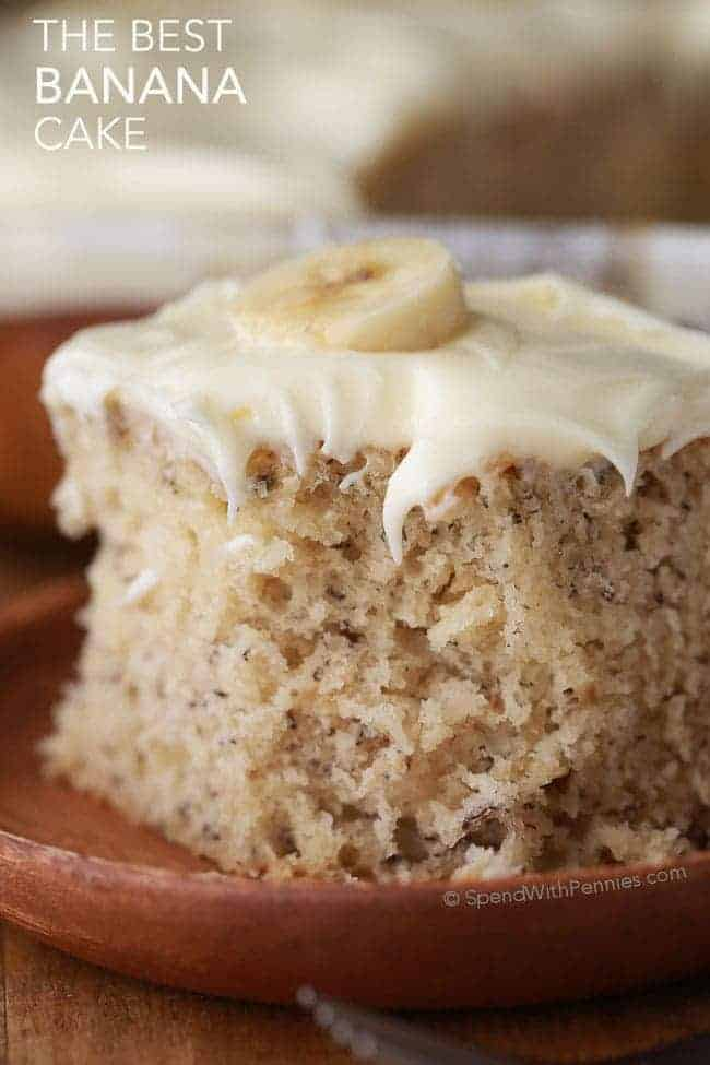 slice of banana cake