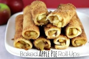 Baked Apple Pie Roll Ups from www.spendwithpennies.com #dessert #apple #applepie
