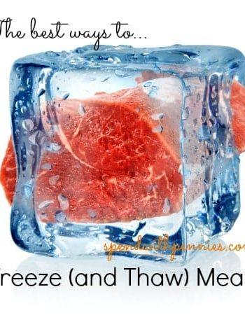 meat encased in ice