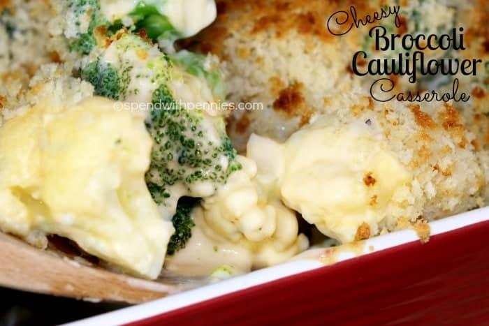 cheesy broccoli cauliflower casserole 2