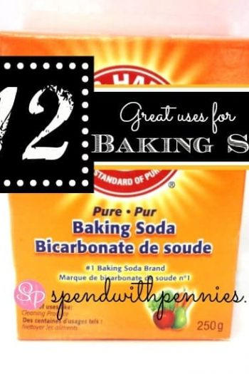 box of baking soda with text