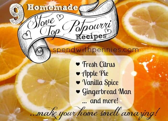 Homemade air freshener! You can make your house smell amazing with ingredients you already have on hand! (9 different fragrances!)