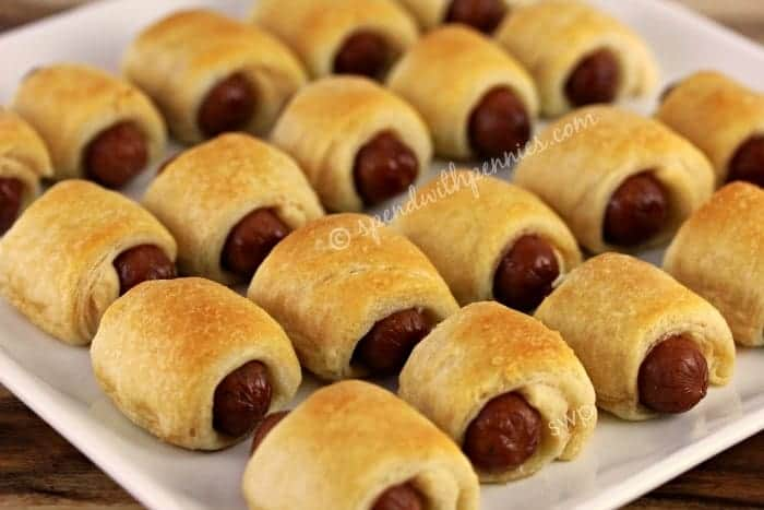 Mini Crescent Dogs Pigs in a Blanket Just 2 ingredients