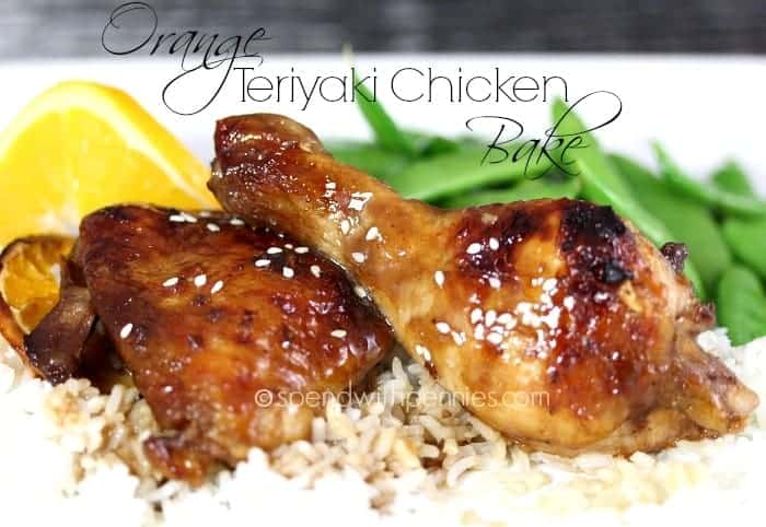orange teriyaki chicken bake