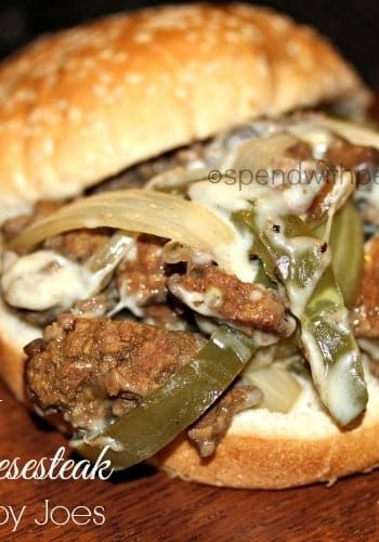 slow cooker philly cheesesteak sloppy joes