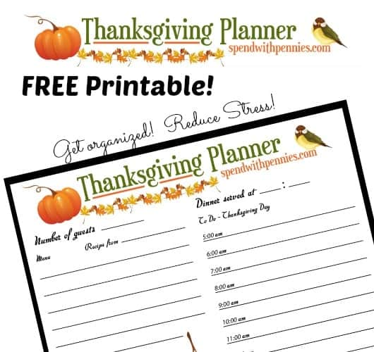 photo regarding Thanksgiving Planner Printable titled No cost Printable: Thanksgiving Meal Planner! - Pay With