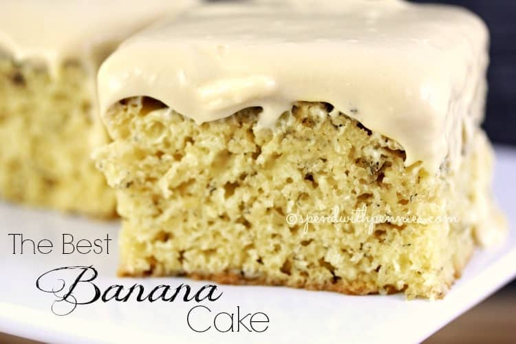 The BEST Banana Cake! This cake is moist and delicious... literally ...