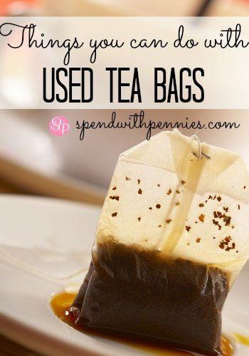 used teabag on a plate