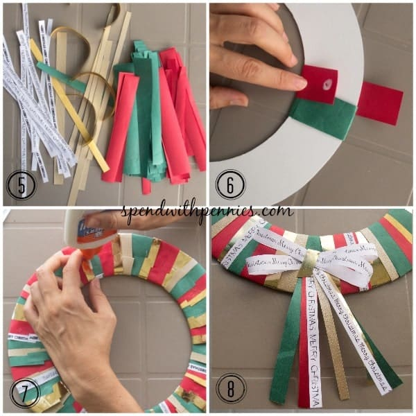 wrapping paper wreath 5-8