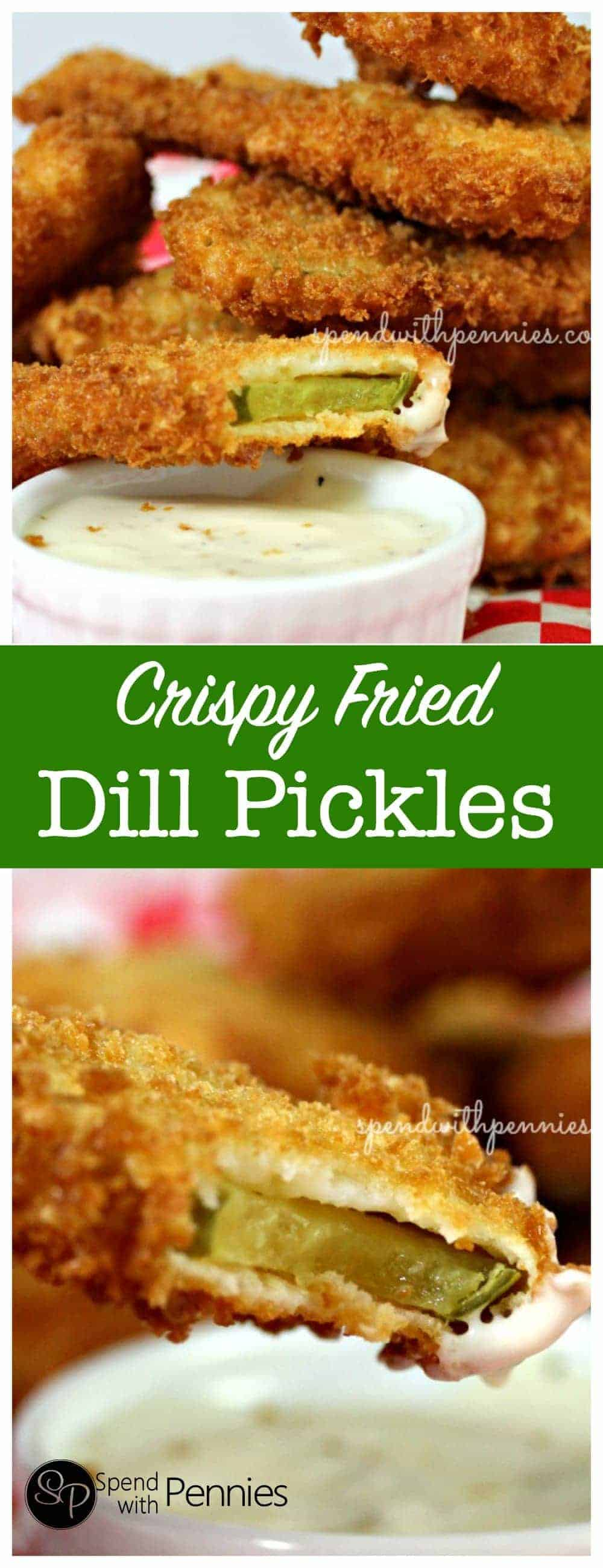 Crispy Deep Fried Pickles!! If you've never tried these, they have to go on your MUST TRY list! <3 Delicious!