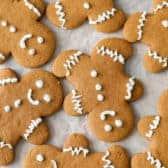 Gingerbread Cookies on pan