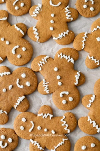 Gingerbread Cookies on pan