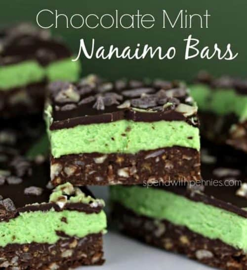 chocolate mint nanaimo bars