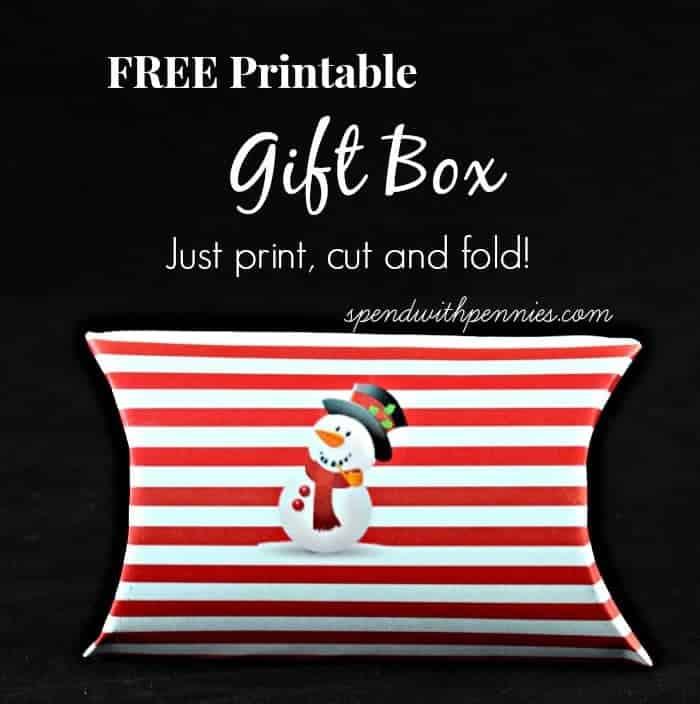 free printable gift box
