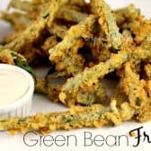 green bean fries with dip