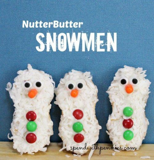3 NutterButter Snowmen standing up