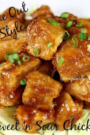 take out sweet 'n sour chicken