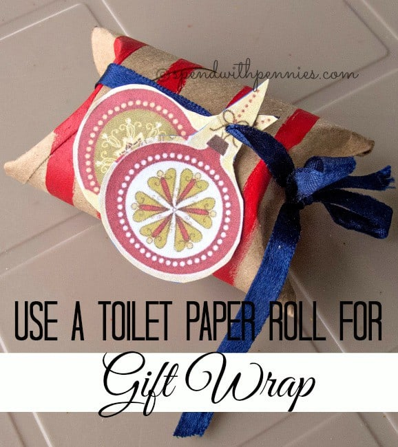 toilet paper roll gift wrap