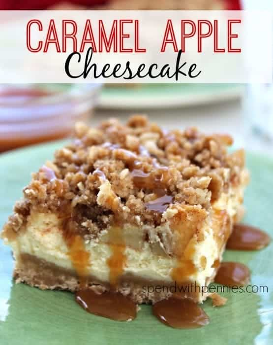 Caramel Apple Cheesecake #dessert #cheesecake #recipe