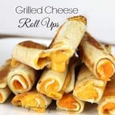 a pile of Grilled Cheese Roll Ups