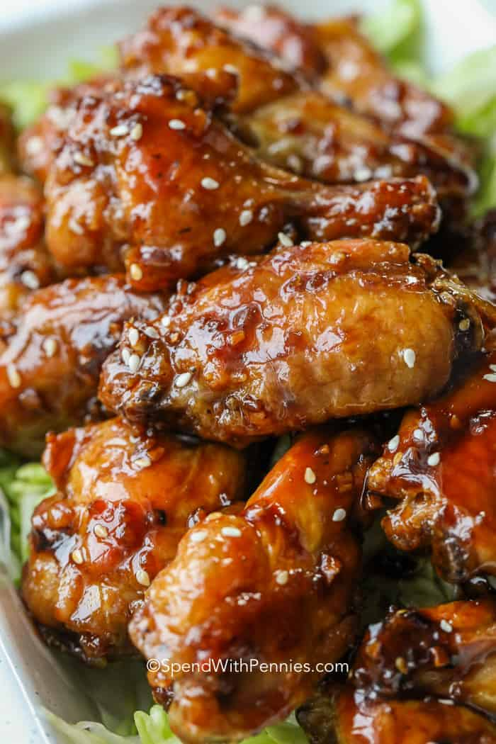 Honey Garlic Chicken Wings Recipe